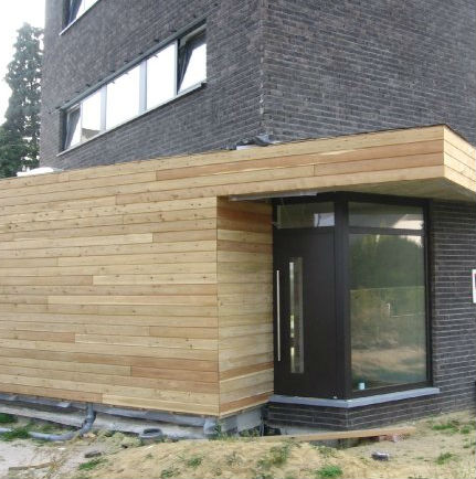 Gevelbekleding hout thermowood